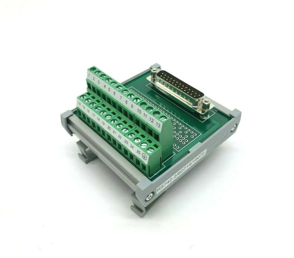 Connectwell 25-Wire Terminal Block to Parallel Connector Port, DIN Rail Mount - Maverick Industrial Sales