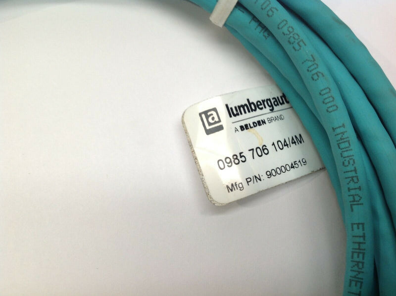 Lumberg Automation 0985 706 104/4M Network Cable 900004519 - Maverick Industrial Sales