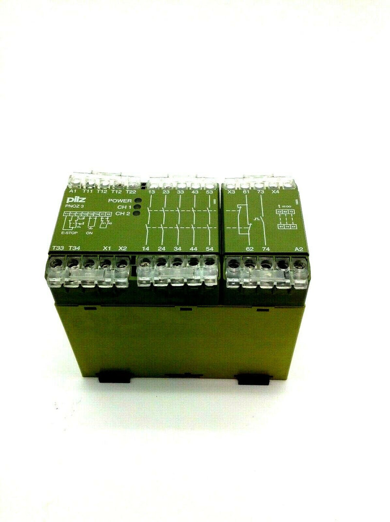 Pilz PNOZ3 24VDC 5S1ON 2 Channel Safety Relay 8 A 240VAC - Maverick Industrial Sales