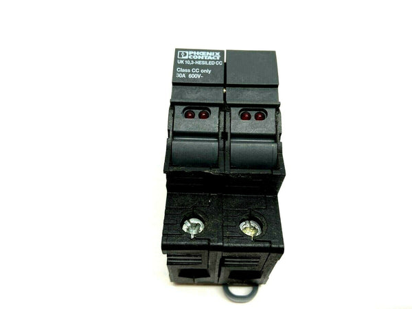 Phoenix Contact UK 10,3-HESILED CC Class CC Double Fuse Holder - Maverick Industrial Sales