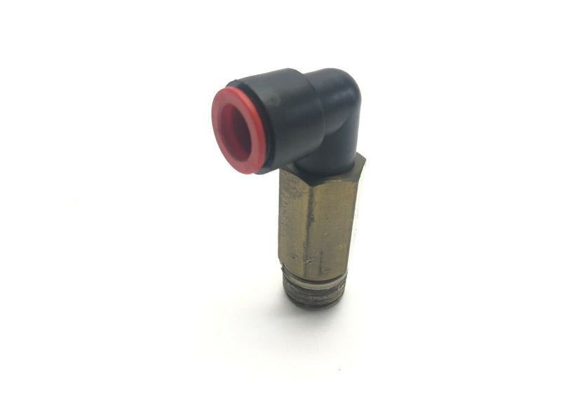 "SMC KQ2W13-37AS-X35 Extended Elbow Fitting 1/2"" One Touch To 1/2"" NPT - Maverick Industrial Sales"