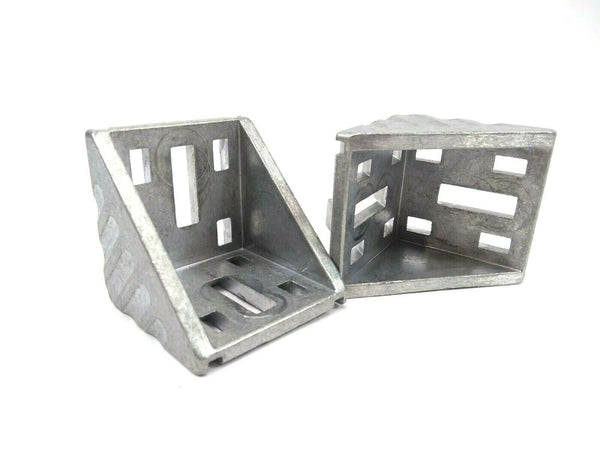 Rexroth 3842523546 Die-Cast Aluminum Gusset 60x60 LOT OF 2 - Maverick Industrial Sales