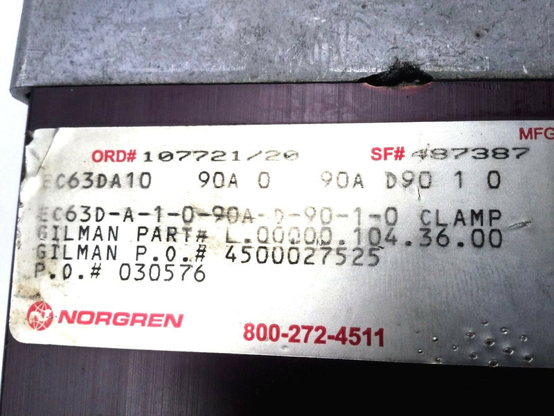Norgren EC63D-A-1-0-90A-D-90-1-0 Pneumatic Robotics Power Clamp - Maverick Industrial Sales