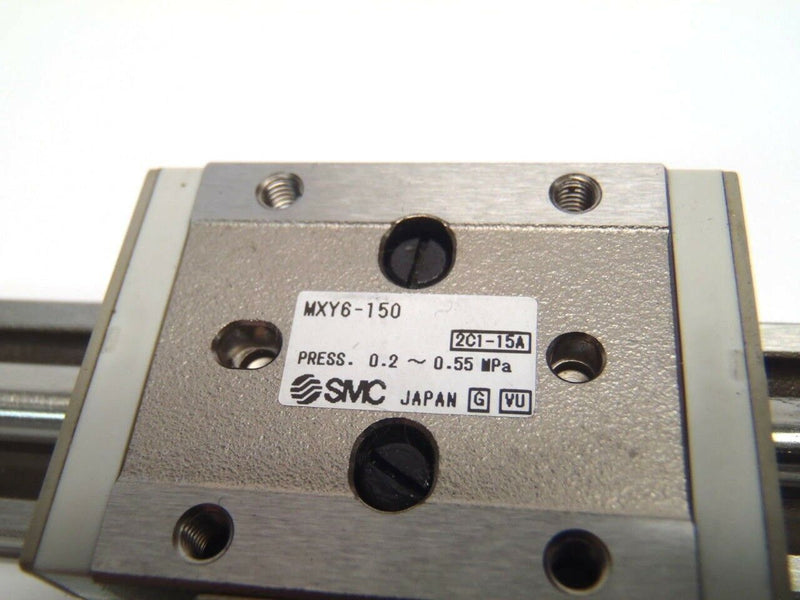 SMC MXY6-150 Slide Table Cylinder Press 0.2-0.55 PSI [G] [VU] - Maverick Industrial Sales