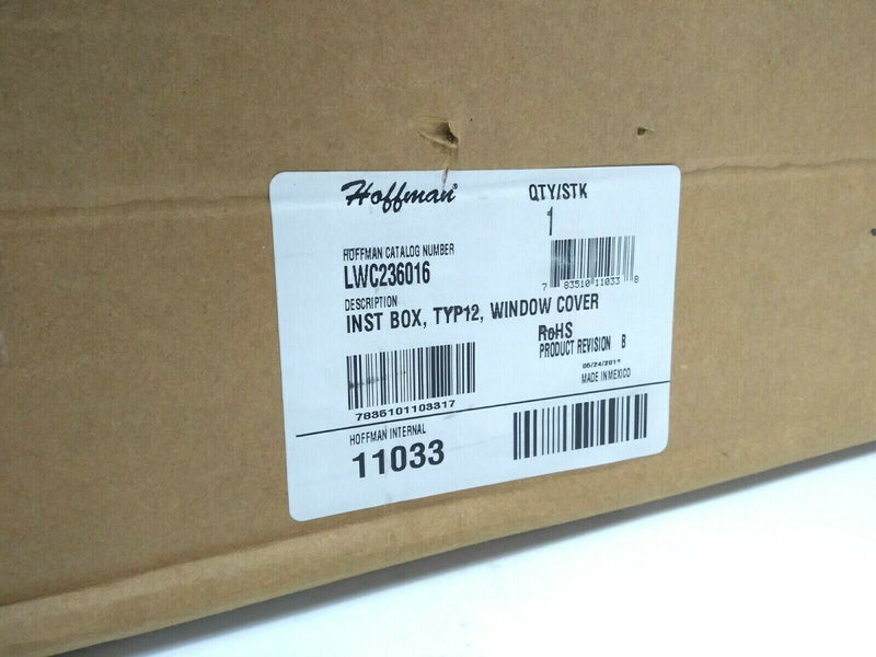 Hoffman LWC236016 Instrumentation Box Type 12 Window Cover 11033 - Maverick Industrial Sales