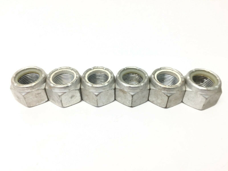"Steel Nylon Insert Lock Nuts Zinc Plated 7/8""-14 LOT OF 6 - Maverick Industrial Sales"