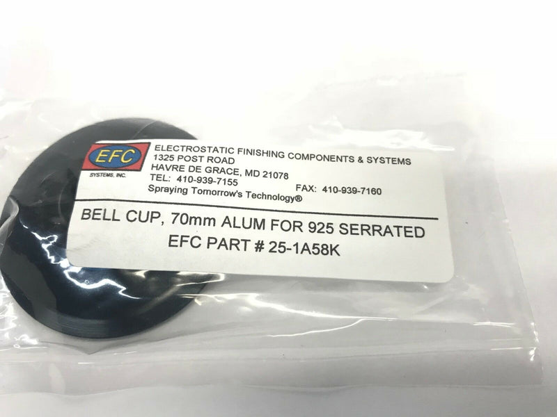 EFC Electrostatic Finish Components, 70mm Bell Cup