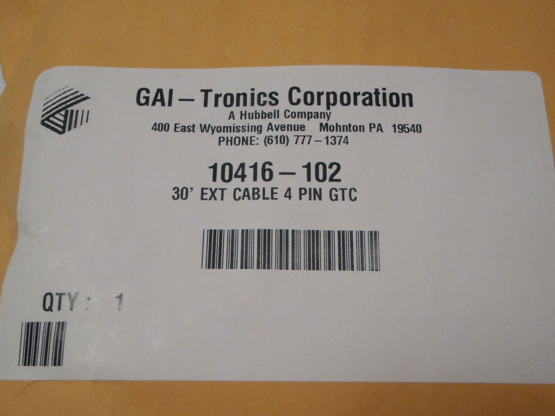 GAI-ELECTRONICS 10416-102 30ft Extension Cable 4-PIN M/F 103 104 105 - Maverick Industrial Sales