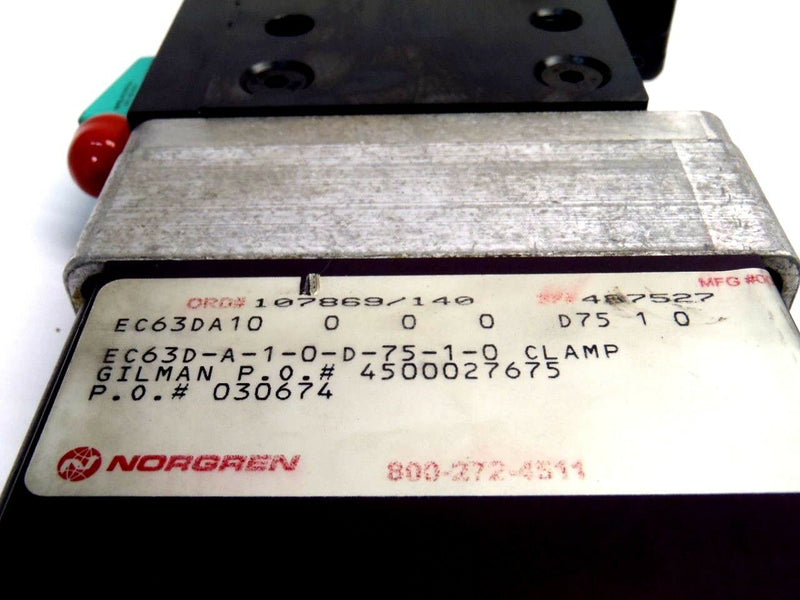 Norgren EC63D-A-1-0-D-75-1-0 Power Clamp W/ Pepperl+Fuchs NBN2-F48-E8-V1 Sensor - Maverick Industrial Sales
