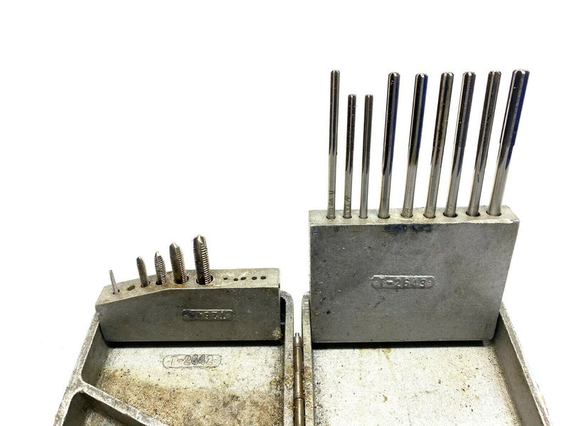 Heavy Duty Cast Aluminum Drill Index Box w/ Selection of Reamers & Taps - Maverick Industrial Sales