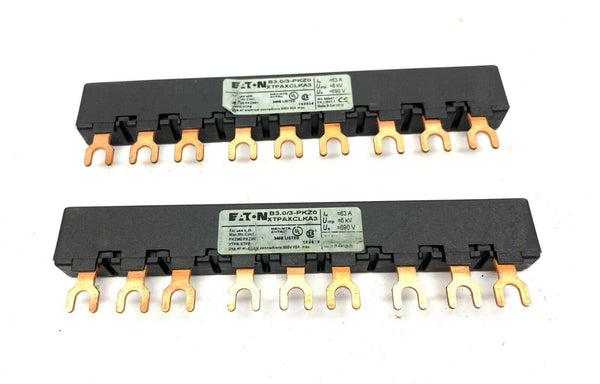 Eaton B3.0/3-PKZ0 XTPAXCLKA3 Commoning Link LOT OF 2 - Maverick Industrial Sales