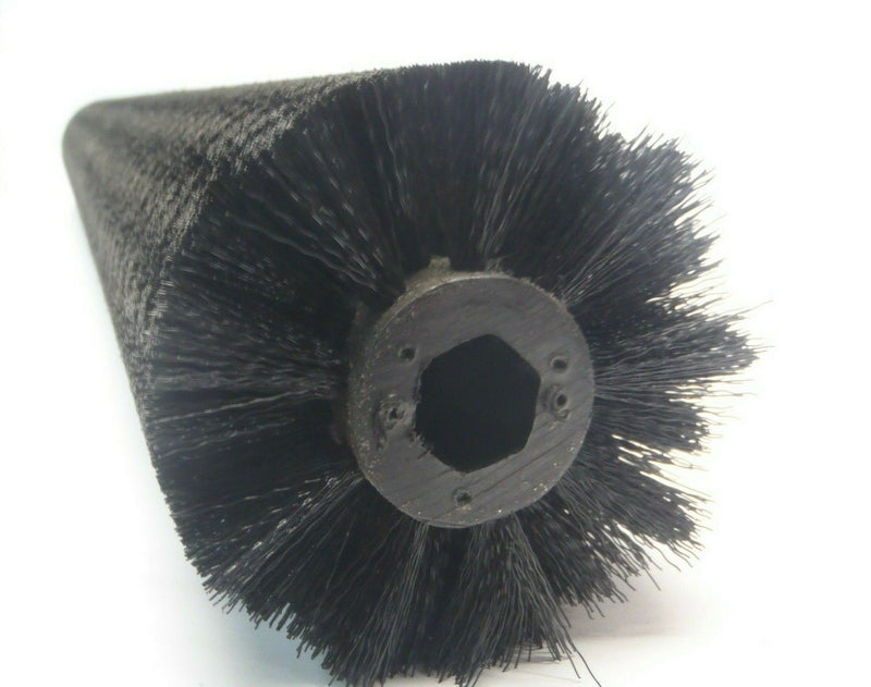 3 Foot 36 Inch L x 4 Inch OD Conveyor Brush Black Nylon Bristles 3/4 Hex - Maverick Industrial Sales