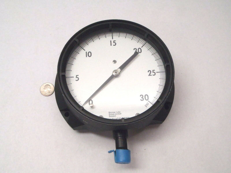 "Ashcroft 1379 AS-012 0-30 PSI 6"" Dial 1/2"" NPT Pressure Guage - Maverick Industrial Sales"