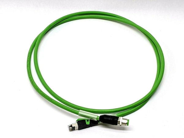 Ethernet Profinet Typ C Cat.5e 2x2x22AWG 4 Pin Male / Cat5e 5' FT - Maverick Industrial Sales