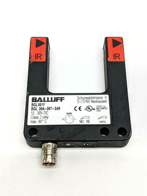 Balluff BGL001F Infrared Through Beam Forked Sensor M8 Connector BGL 30A-007-S49 - Maverick Industrial Sales