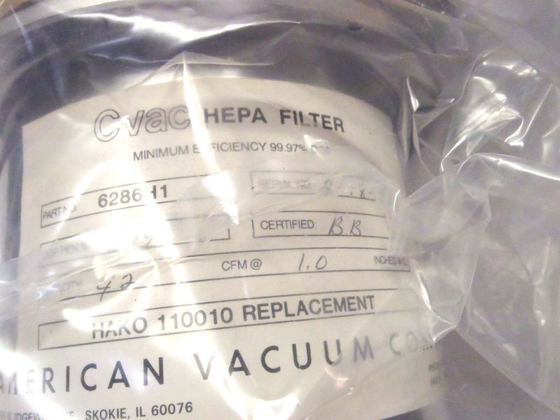 CVAC 6286H1 HEPA Filter HAKO 110010 Replacement - Maverick Industrial Sales