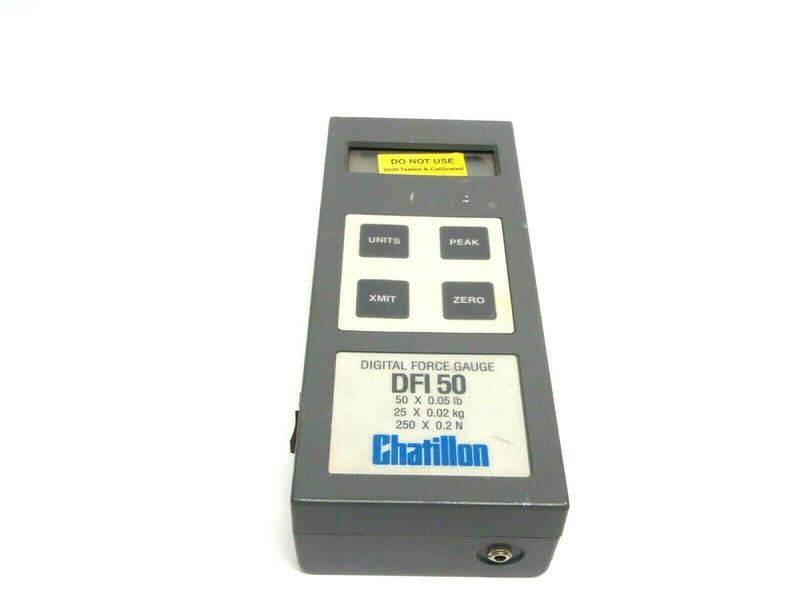 Chatillon DFI 50 Digital Force Gauge 50 x 0.05 Lb 25 x 0.02 kg 250 x 0.2 N - Maverick Industrial Sales