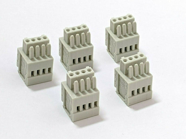 Wago 733-104 Pluggable Terminal Block 4 Positions LOT OF 5 - Maverick Industrial Sales