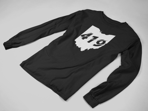 419 State Cutout L/S t-shirt - Black