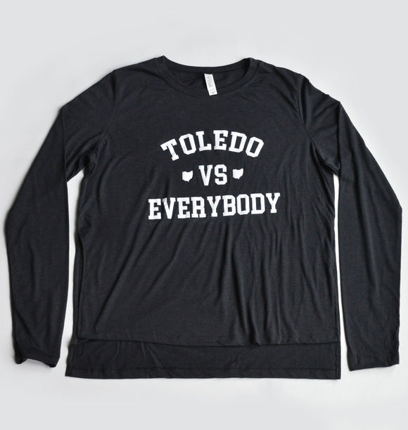 Toledo Vs Everybody Women's Side Slit Long Sleeve Tee