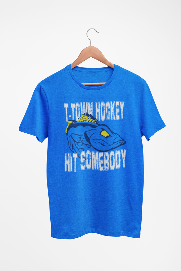 Hit Somebody Hockey Tee