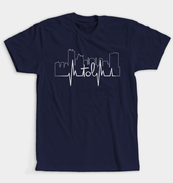 TOL Hearbeat  Unisex T-Shirt - Navy