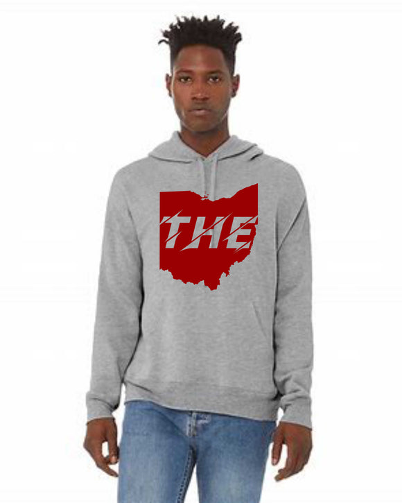 THE - State Cutout Unisex Crossover Hoodie