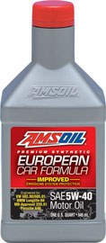 European Car Formula 5W-40 Improved ESP Synthetic Motor Oil