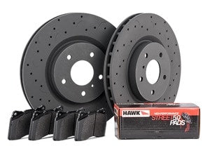 Hawk Talon HPS 5.0 Brake Kit - Slotted & Drilled
