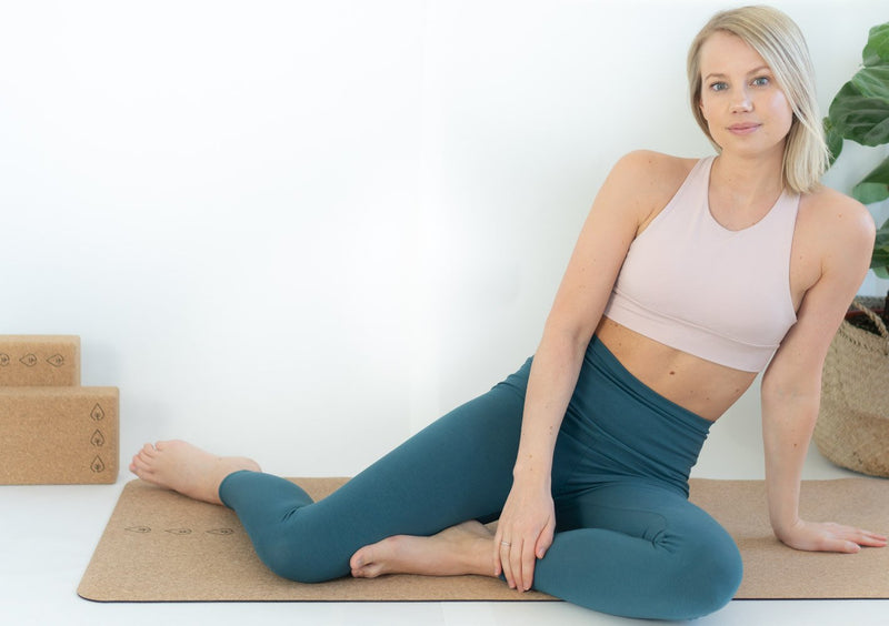 Yoga Tights Bambus/Bomull - Teal Grønn