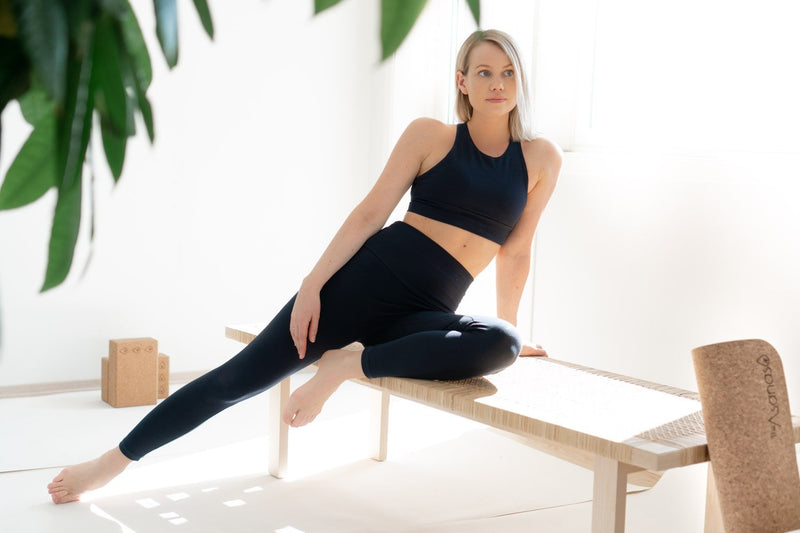 Yoga Tights Bambus/Bomull - Midnatt Blå