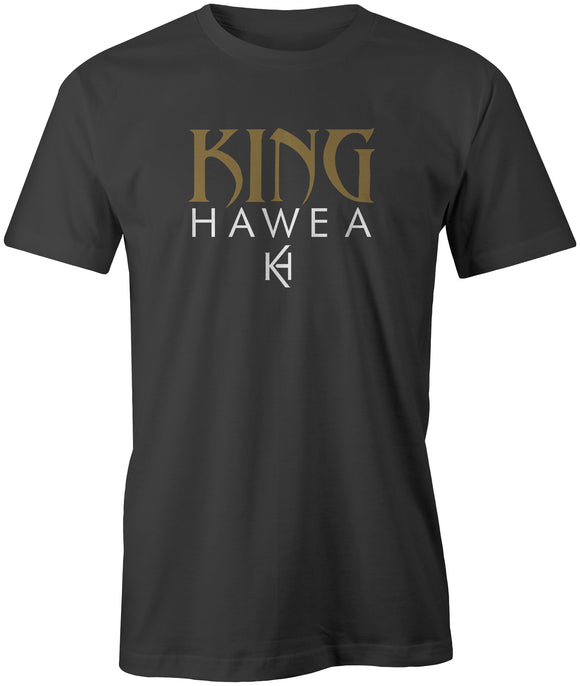 King Hawea Tee - Gold on Black