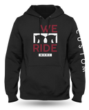 We Ride Hoodie - Black/Maroon