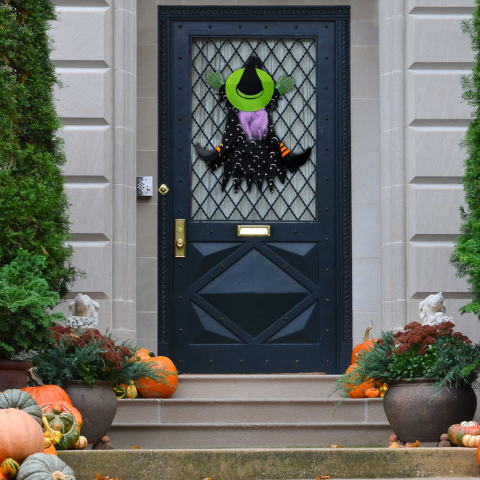 "Halloween Haunters Hanging 15"" Tree Window Crasher Witch Prop Decoration - Funny Eye-Catching Flying Crashing Wrong Way Wicked Witch, Attach to Tree, Door, Porch, Entryway - Haunted House Display"
