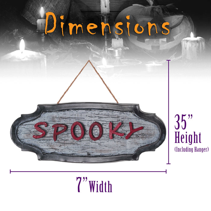 "Halloween Haunters Animated 20"" Levitating Up and Down Spooky Letters Ghost Sign Prop Decoration - Moving Letters Levitate In & Out - Scary Howls"