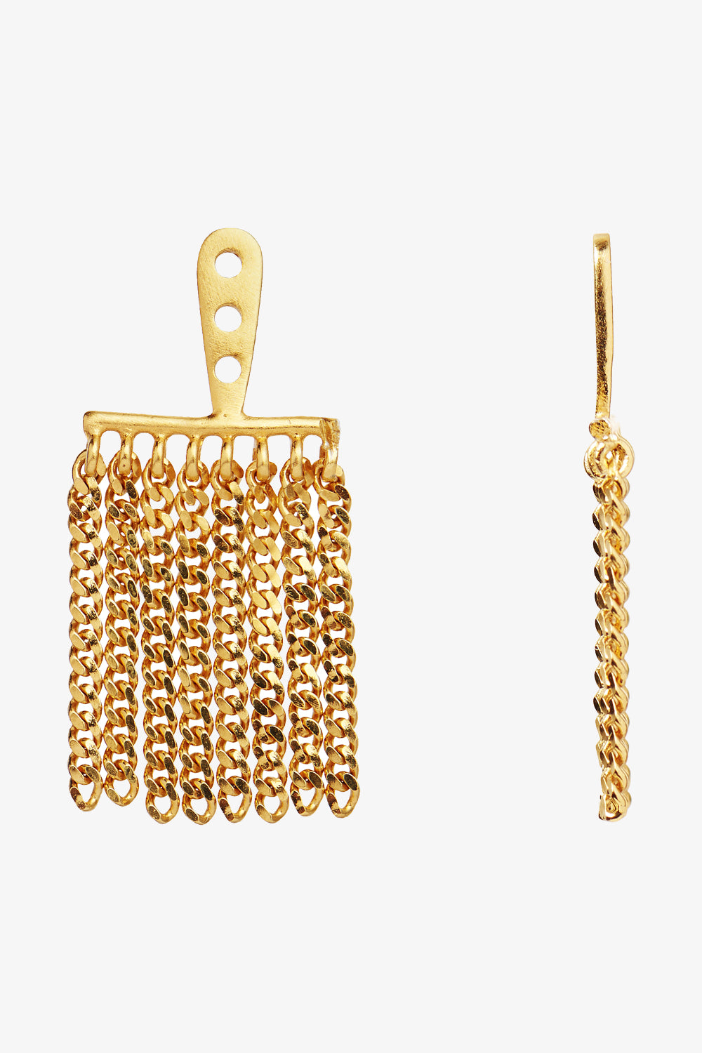 Billede af Dancing Chains Behind Ear-Earring - Gold - Stine A - Guld One Size