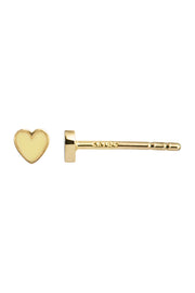 Petit Love Heart Yellow Enamel - Gold - Stine A
