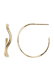 Love Wave Creol Earring - Guld - Stine A