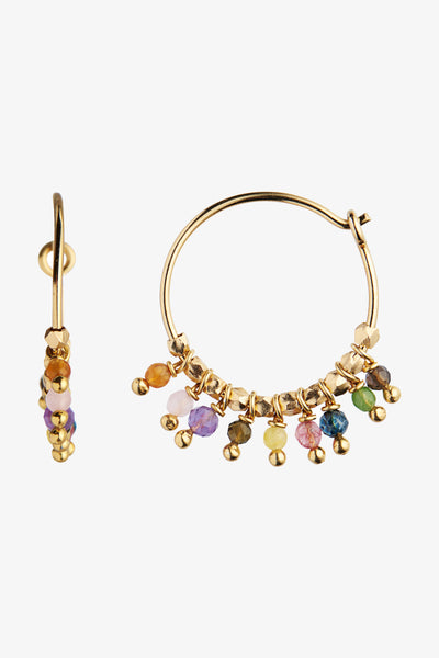Petit Rainbow Hoop with Stones - Gold - Stine A