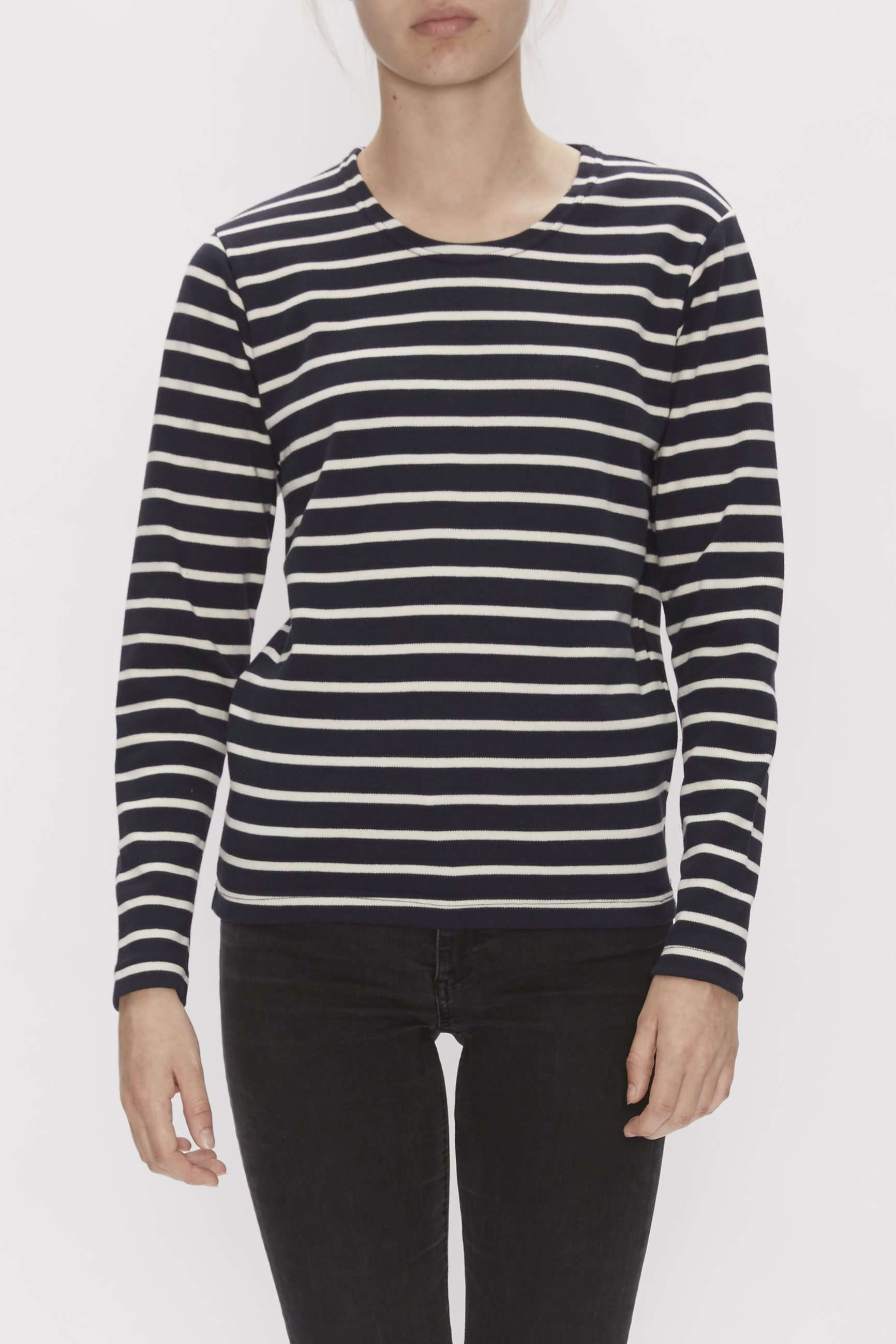 Adjø l/s sweatshirt - Navy - My Lounge - Stribet M