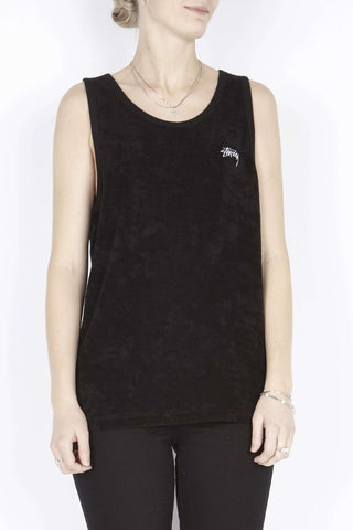 Sort Terry Tank top fra Stüssy