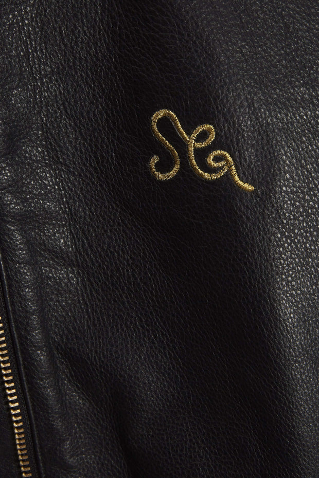 Stine, embroidered leather