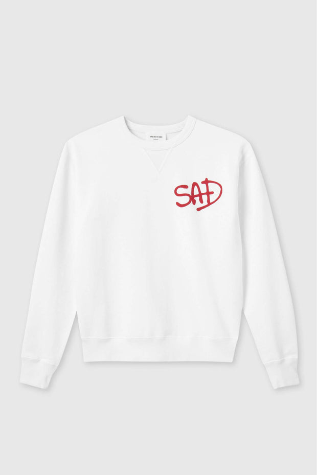 SAD sweatshirt Flora Sweatshirt i Bright White fra Wood Wood