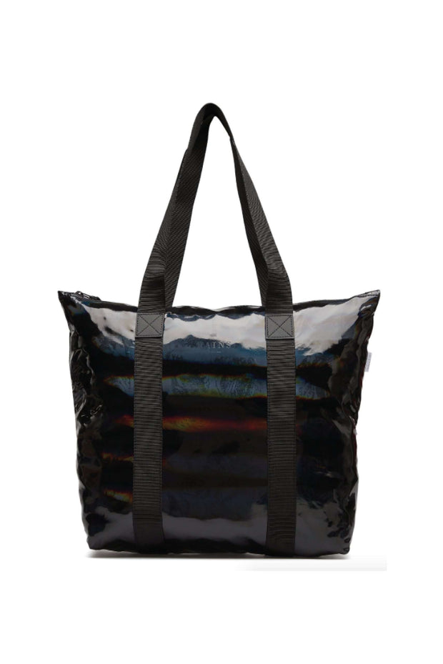 Holographic Tote Bag Rush Black I sort fra Rains 4