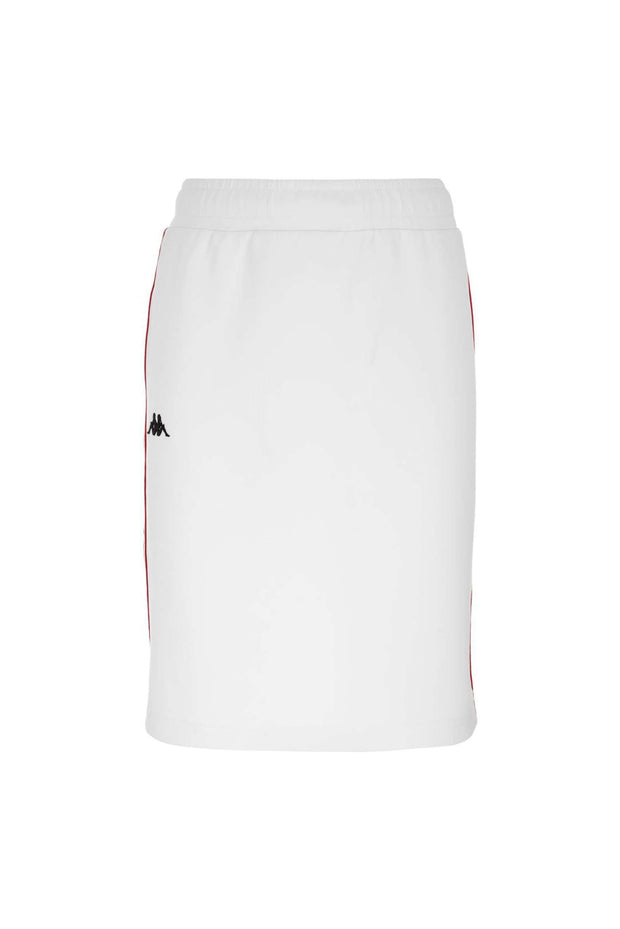 Auth. Baloma Snap Skirt - White/Red/Black - Kappa