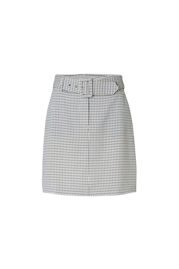 Kaia Skirt - Belted Spring Check - 2ND ONE