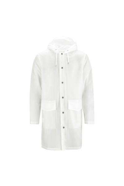 Hooded Coat - Foggy White - Rains