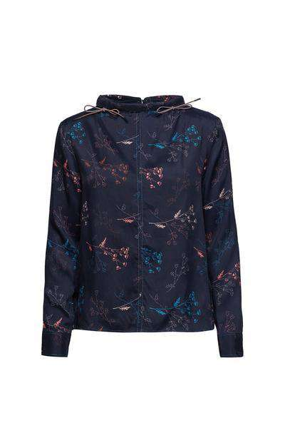 Harriet Top - Flowers Navy - Wood Wood