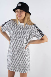 3 stripes tee dress - White/black - Adidas Originals