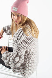 Alexandra Bubble Knit Cardigan - Grey - irréel